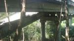 Появились фото взорванного террористами моста на Донетчине