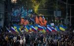Фото с Марша мира в Москве. Несмотря на ожидания, акция протеста прошла мирно